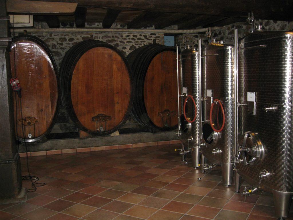 Domaine Gruss kelders houten vaten