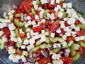 Greek salad platter